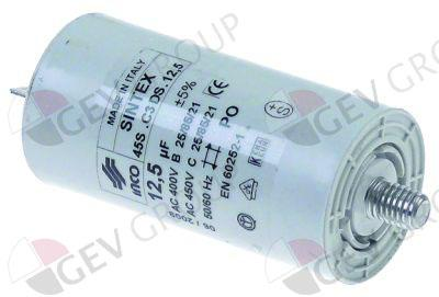 CAPACITOR12,5µF 450V with plastic sheathing